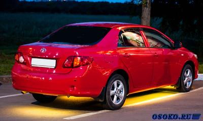 Светодиодные ленты и их применение в автомобилях